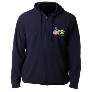 Flag Embriodered Zip-Up Sweatshirt-0