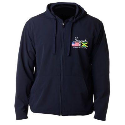 Flag Embriodered Zip-Up Sweatshirt-0