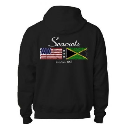 Distressed Flags Hooded Sweatshirt-0