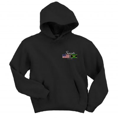 Distressed Flags Hooded Sweatshirt-989