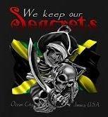 We Keep Our Seacrets V-neck T-shirt-1390