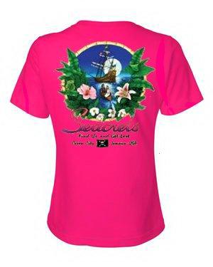 Tropics V-neck T-shirt-1398