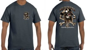 Bearded Skull T-shirt-0