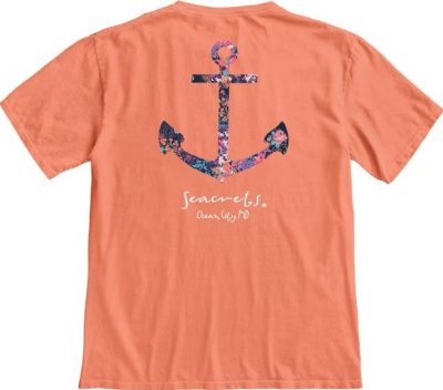 Floral Anchor T-shirt-0