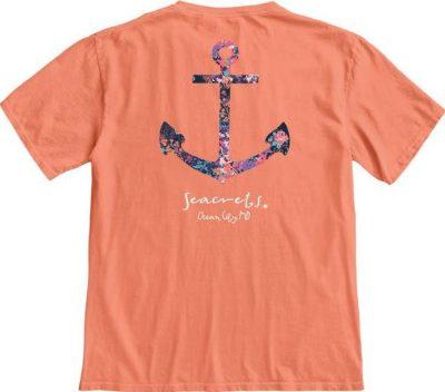 Floral Anchor T-shirt-0