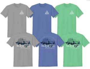 Mack Truck T-shirt Gray Blue or Green