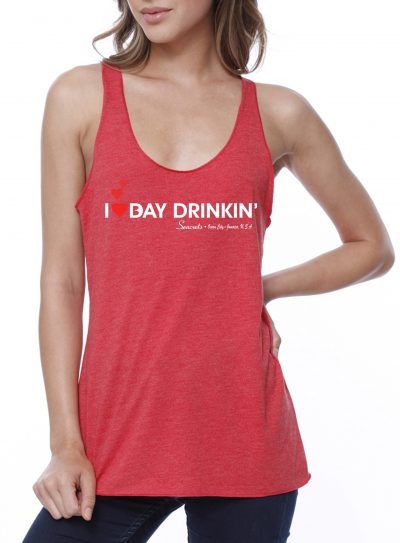 I Heart Bay Drinkin' Tank Top Red