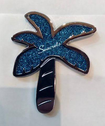 Glitter Palm Magnet Blue