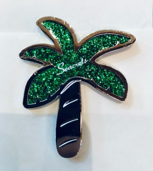 Glitter Palm Magnet Green