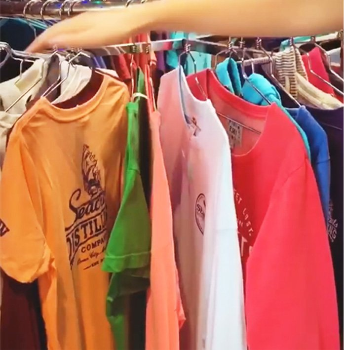 T Shirts On Rack