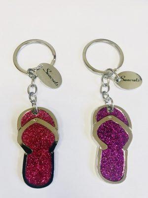 Glitter Flip Flop Keychain