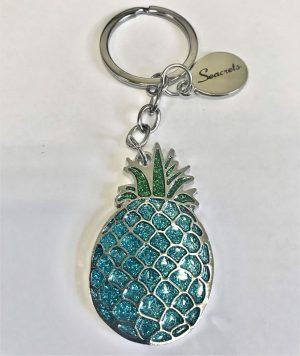 Glitter Pineapple Keychain