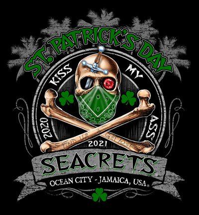 Seacrets St. Pats 2021 Skull With Mask 2 Copy