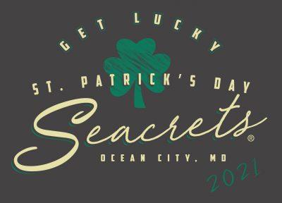 Seacrets 2021 St. Patrick's Get Lucky Script Front